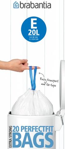 Пакет пластиковый 20л 20шт Brabantia 245329