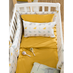 Комплект детского постельного белья из сатина горчичного цвета из коллекции Essential, 100х120 см Tkano TK20-KIDS-DC0003