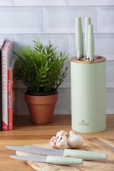 Набор из 5 ножей в подставке Organic зеленый Viners v_0305.187
