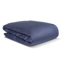 Комплект постельного белья двуспальный из сатина темно-синего цвета из коллекции Essential Tkano TK19-DC0019