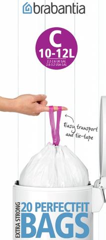 Пакет пластиковый 10/12л 20шт Brabantia 245343