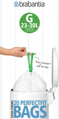 Пакет пластиковый 23/30л 20шт Brabantia 246265