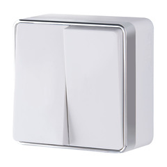 Выключатель  двухклавишный  Gallant (белый) WL15-03-01 Werkel