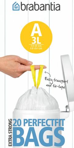 Пакет пластиковый 3л 20шт Brabantia 311727