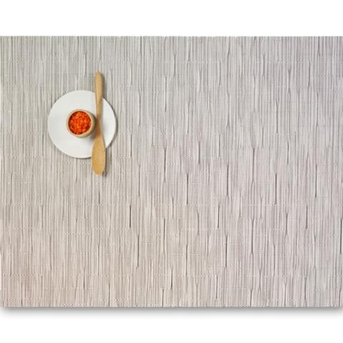 Салфетка подстановочная, жаккардовое плетение, винил, (36х48) Chalk (100105-004) CHILEWICH Bamboo арт. 0025-BAMB-CHAL