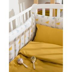 Комплект детского постельного белья из сатина горчичного цвета из коллекции Essential, 110х140 см Tkano TK20-KIDS-DC0009
