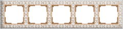 Рамка на 5 постов (белое золото) WL07-Frame-05 Werkel