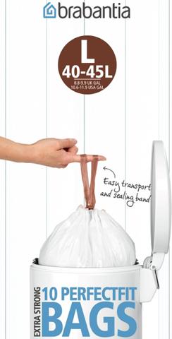 Пакет пластиковый 45л 10шт Brabantia 371547