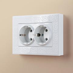 Рамка для двойной розетки (белый) WL05-Frame-01-DBL-white Werkel