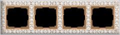 Рамка на 4 поста (белое золото) WL07-Frame-04 Werkel