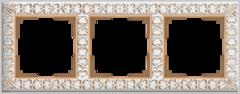 Рамка на 3 поста (белое золото) WL07-Frame-03 Werkel
