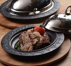 Сковорода порционная чугунная 28х20см LAVA ECO с медной крышкой + подставка из н/дерева LVECOODNR2820K4K8
