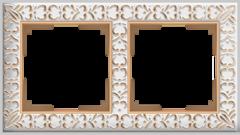 Рамка на 2 поста (белое золото) WL07-Frame-02 Werkel