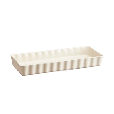 Форма для пирога прямоугольная 15х36см Emile Henry (цвет: крем) 026034