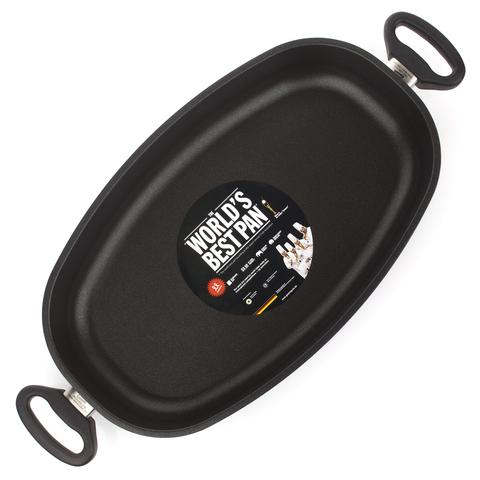 Сковорода овальная, для запекания 40x24 см AMT Frying Pans Titan арт. AMT I-74024