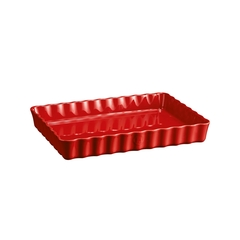 Форма для пирога прямоугольная 24х34см Emile Henry (цвет: гранат) 346038