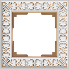 Рамка на 1 пост (белое золото) WL07-Frame-01 Werkel