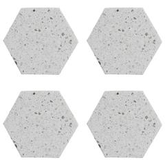 Набор из 4 подставок из камня Elements Hexagonal 10 см TYPHOON 1401.042V