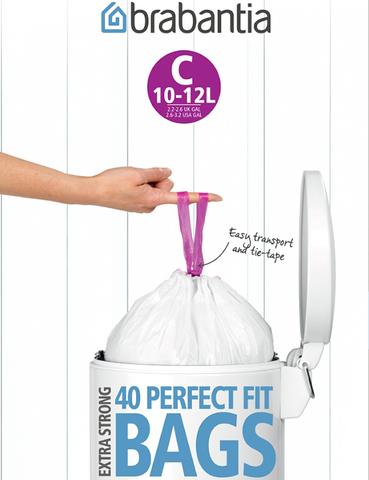 Пакет пластиковый 10/12л 40шт Brabantia 361982