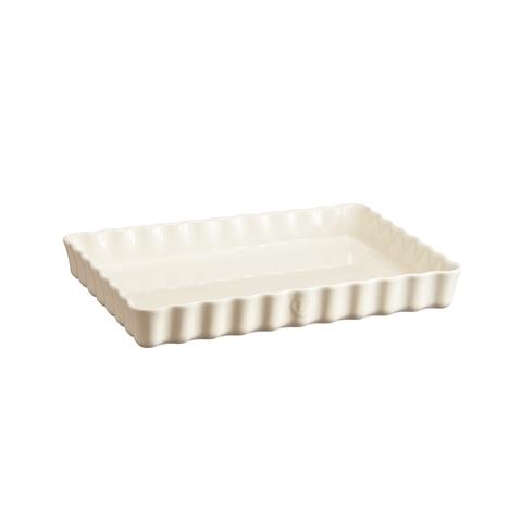 Форма для пирога прямоугольная 24х34см Emile Henry (цвет: крем) 026038