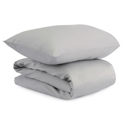 Комплект детского постельного белья из сатина светло-серого цвета из коллекции Essential, 100х120 см Tkano TK20-KIDS-DC0002