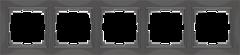 Рамка на 5 постов (серо-коричневый, basic) WL03-Frame-05 Werkel