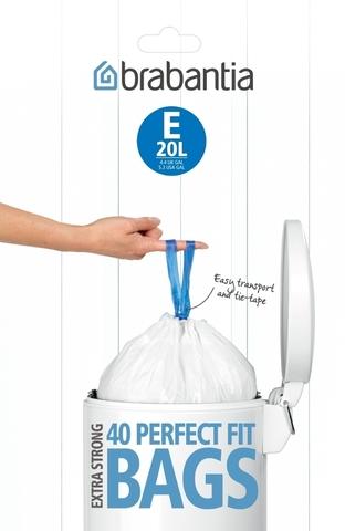 Пакет пластиковый 20л 40шт Brabantia 362002
