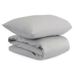 Комплект детского постельного белья из сатина светло-серого цвета из коллекции Essential, 110х140 см Tkano TK20-KIDS-DC0008