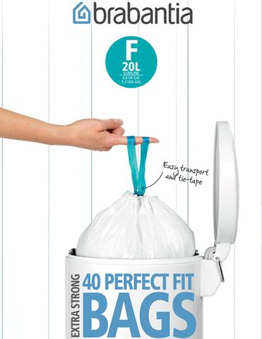 Пакет пластиковый, высокий 20л 40шт Brabantia 375644