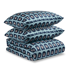 Комплект постельного белья двуспальный из сатина цвета пыльной розы с принтом Blossom time Tkano TK19-DC0016