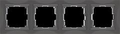 Рамка на 4 поста (серо-коричневый, basic) WL03-Frame-04 Werkel
