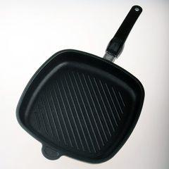 Сковорода гриль квадратная 26х26 см съемная ручка AMT Frying Pans арт. AMT E264G