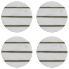 Набор из 4 подставок из мрамора Elements D 10 см TYPHOON 1401.046V