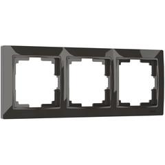 Рамка на 3 поста (серо-коричневый, basic) WL03-Frame-03 Werkel