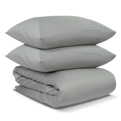 Комплект постельного белья из сатина светло-серого цвета из коллекции Essential Tkano TK19-DC0008