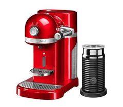 Кофемашина капсульная 1,4л KitchenAid Artisan Nespresso и Aeroccino (Красный) 5KES0504EER