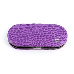Маникюрный набор GD, 5 предметов, цвет фиолетовый, кожаный футляр 1554VCLN