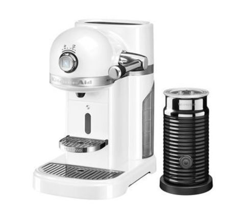 Кофемашина капсульная 1,4л KitchenAid Artisan Nespresso и Aeroccino (Морозный жемчуг) 5KES0504EFP