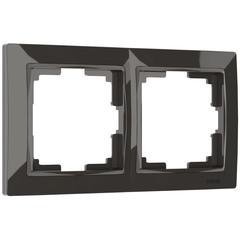 Рамка на 2 поста (серо-коричневый, basic) WL03-Frame-02 Werkel