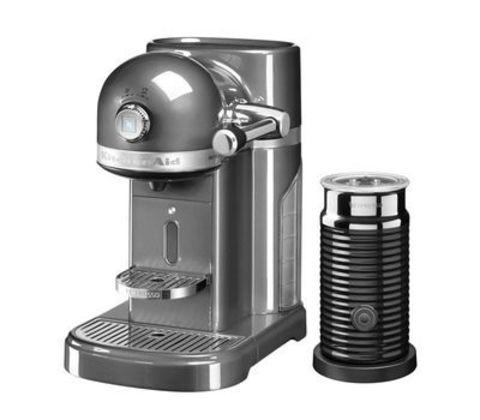 Кофемашина капсульная 1,4л KitchenAid Artisan Nespresso и Aeroccino (Серебряный медальон) 5KES0504EMS