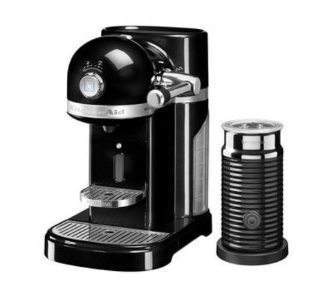 Кофемашина капсульная 1,4л KitchenAid Artisan Nespresso и Aeroccino (Черный) 5KES0504EOB