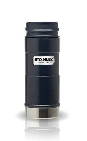 Термокружка Stanley Classic (0,35 л.) 1-Hand, темно-синяя 10-01569-006
