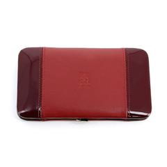 Маникюрный набор Dewal, 8 предметов, цвет красный, кожаный футляр 506DR