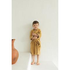 Халат из жатого хлопка горчичного цвета из коллекции Essential 3-4Y Tkano TK20-KIDS-BHR0003