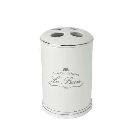 Стакан для зубных щеток Kassatex Le Bain White ALB-TBH-W