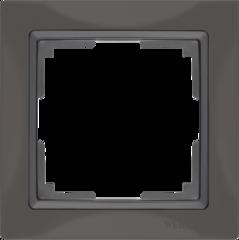Рамка на 1 пост (серо-коричневый, basic) WL03-Frame-01 Werkel