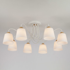 Потолочная люстра со стеклянными плафонами Eurosvet Betty 70062/8 белый