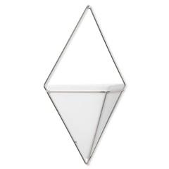 Декор для стен Trigg, большой, белый/никель Umbra 470752-670*