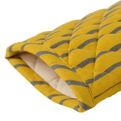 Прихватка-варежка из хлопка горчичного цвета с принтом Полоски из коллекции Prairie, 33х17,5 см Tkano TK20-OM0008