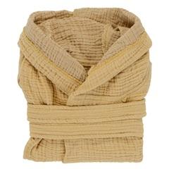 Халат из жатого хлопка горчичного цвета из коллекции Essential 4-5Y Tkano TK20-KIDS-BHR0004